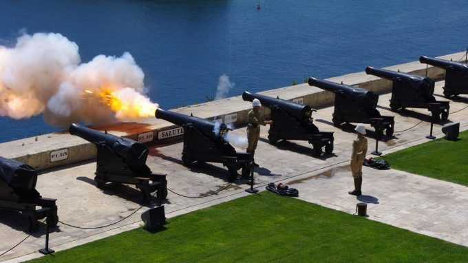 Valletta Cannon fire