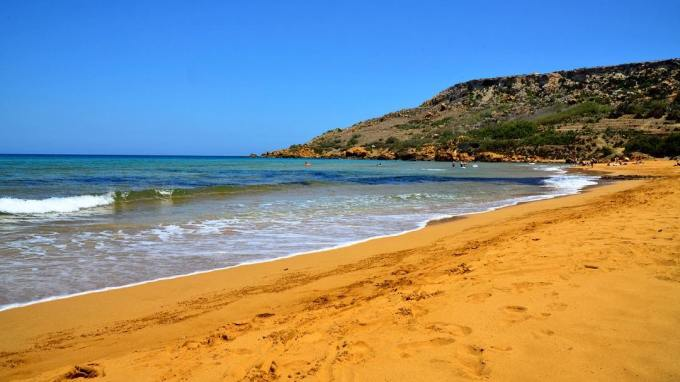 Sandy beach in malta