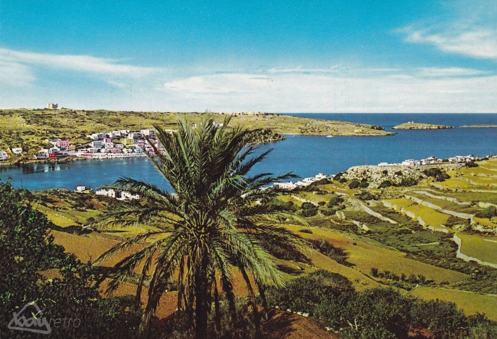 The view across St Paul's Bay in the early 1970s