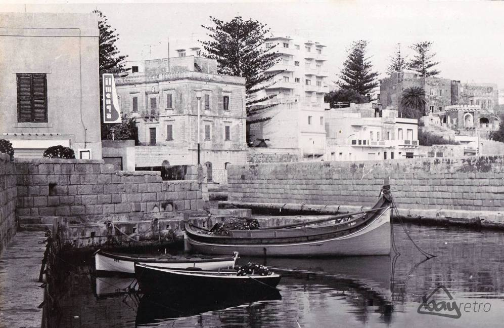 Il-Menqa Harbour in St Paul's Bay in the 1960s