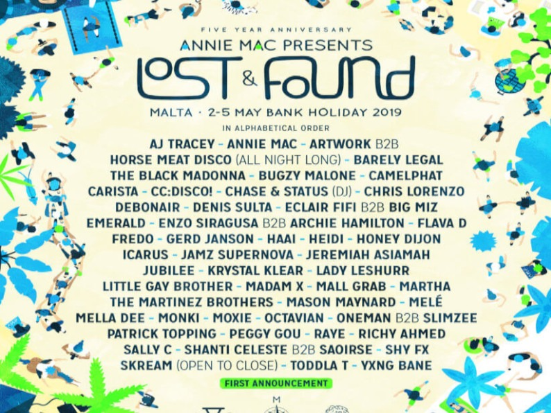 Amp Lost&Found 2019 line up