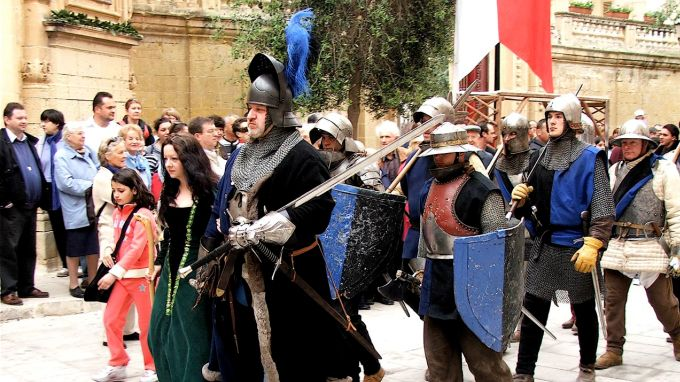 Mdina festival re-enactment