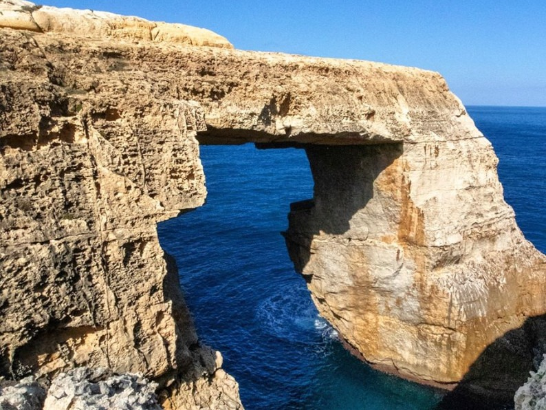 wied il-mielah window in Gozo